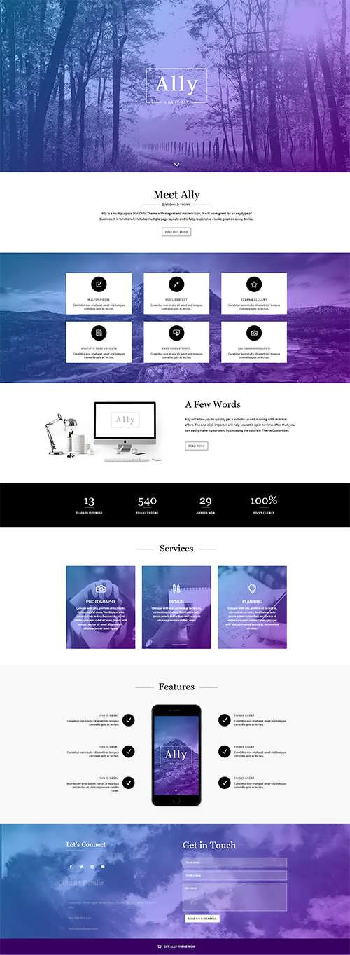 Ally Divi Multipurpose Theme