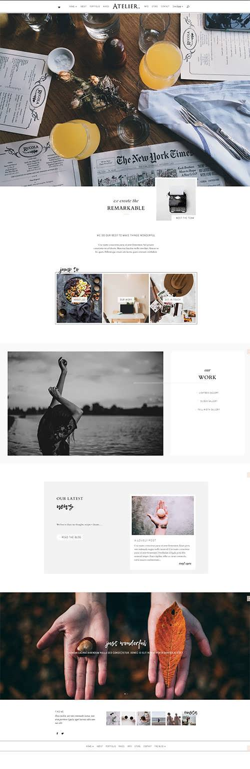 Atelier Child Theme For Divi