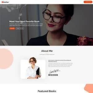 Author A Free Divi Layout