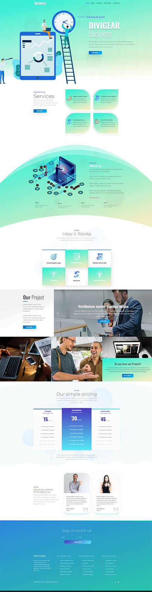Business Divi Child Theme DiviGear