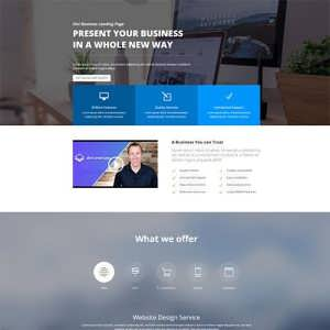 Business Landing Page Layout