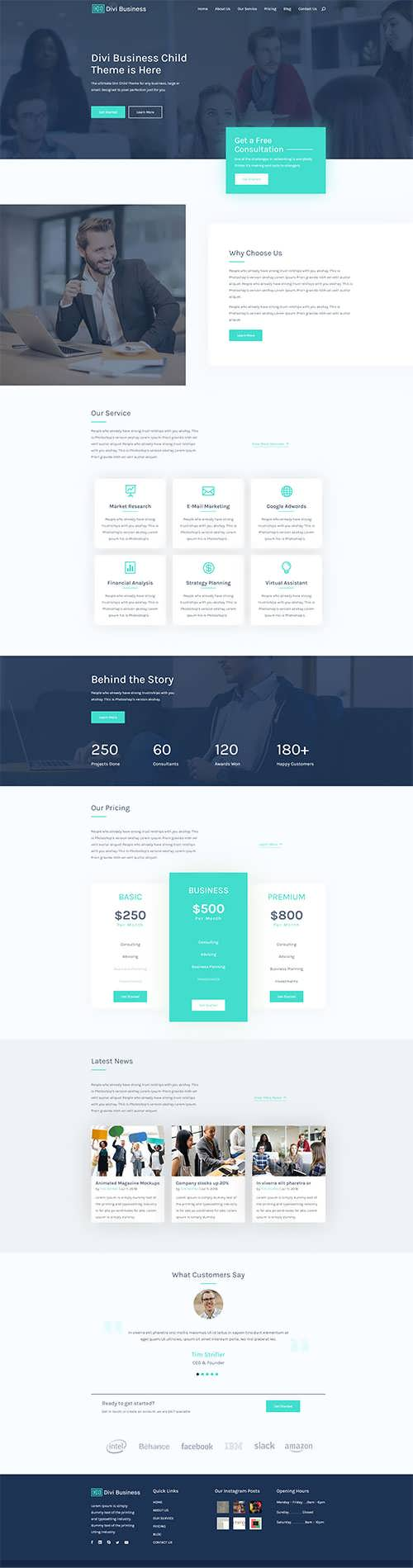 Divi Business free child theme