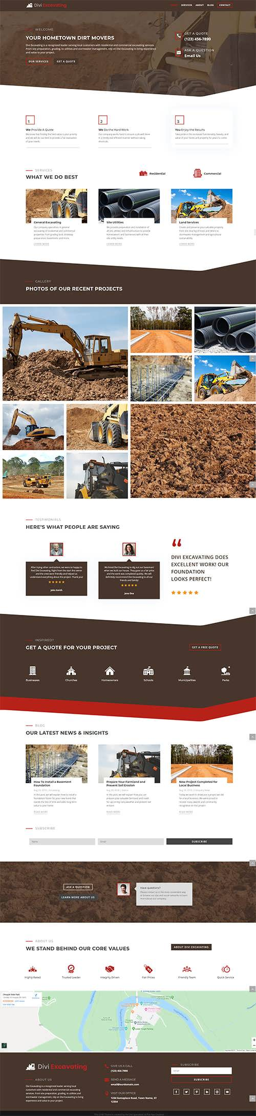 Divi Excavating Child Theme