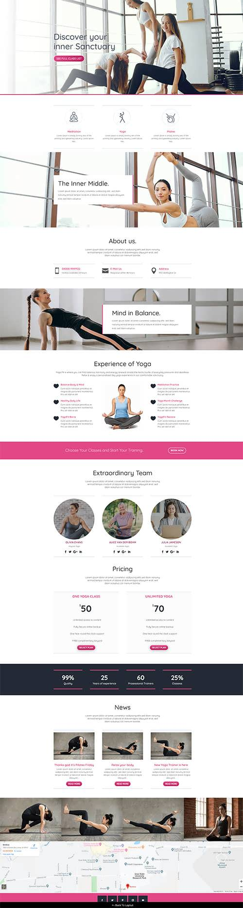 Divi Free Yoga Layout Pack