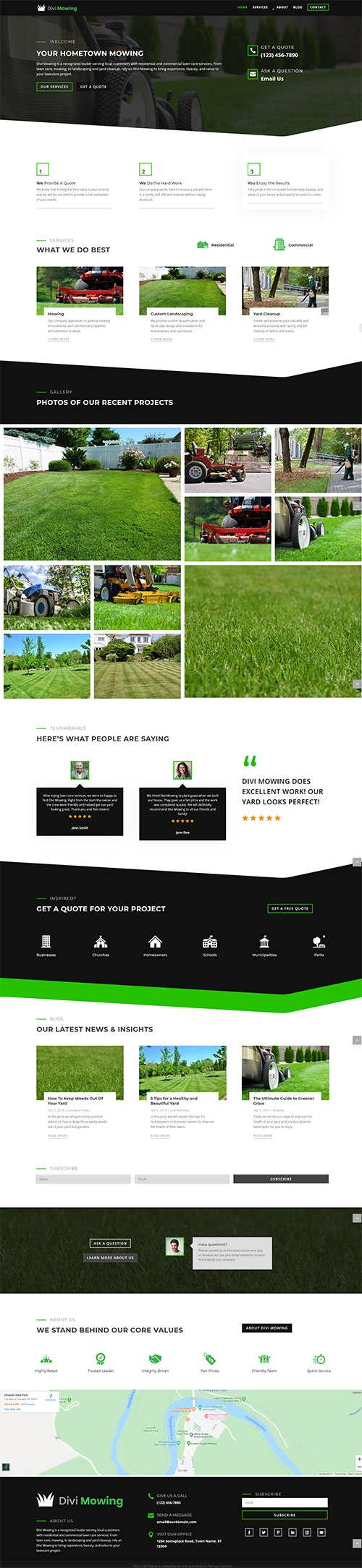 Divi Mowing Child Theme