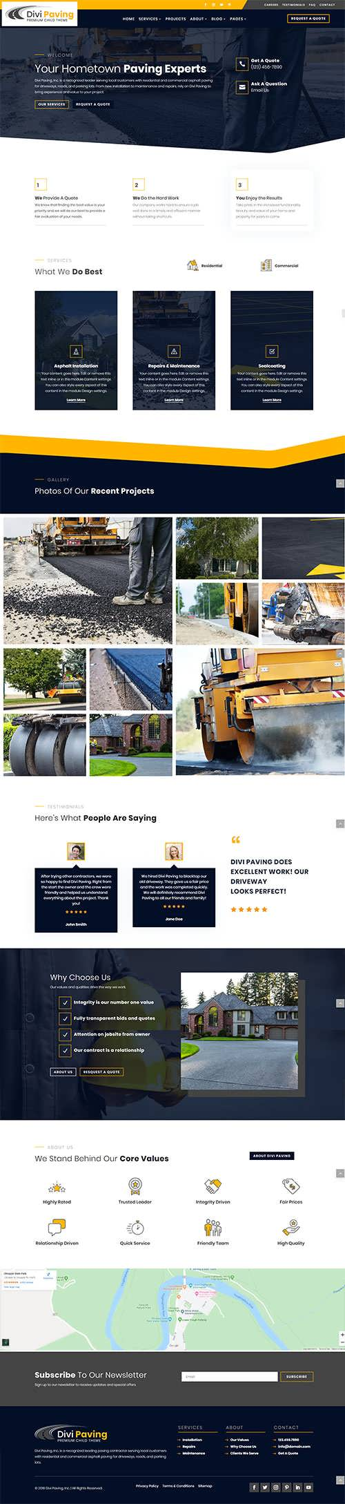 Divi Paving Child Theme