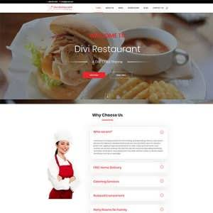 Divi Restaurant Child Theme