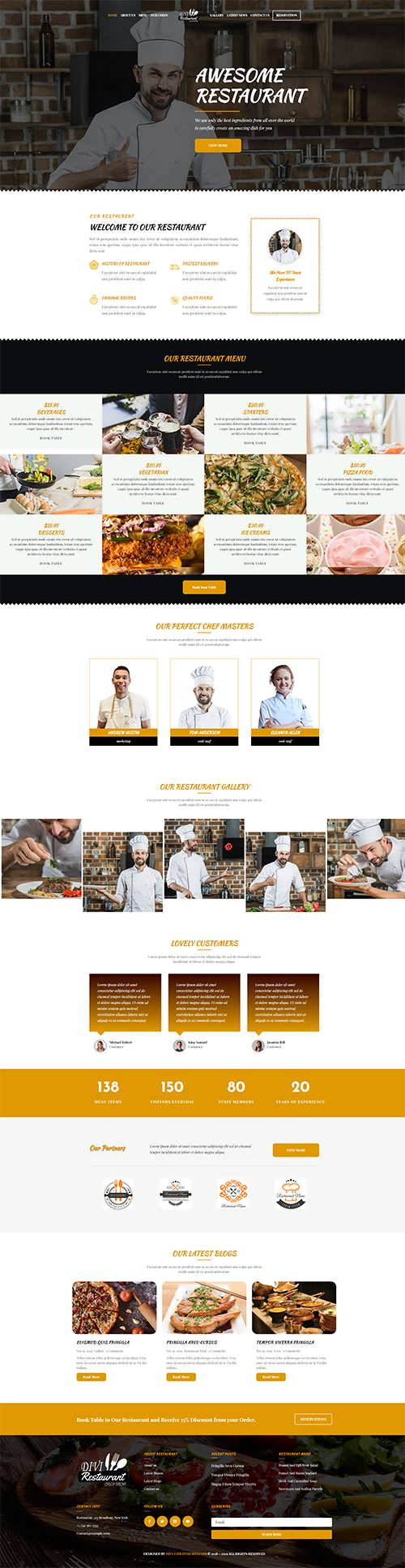 Divi Restaurant Theme