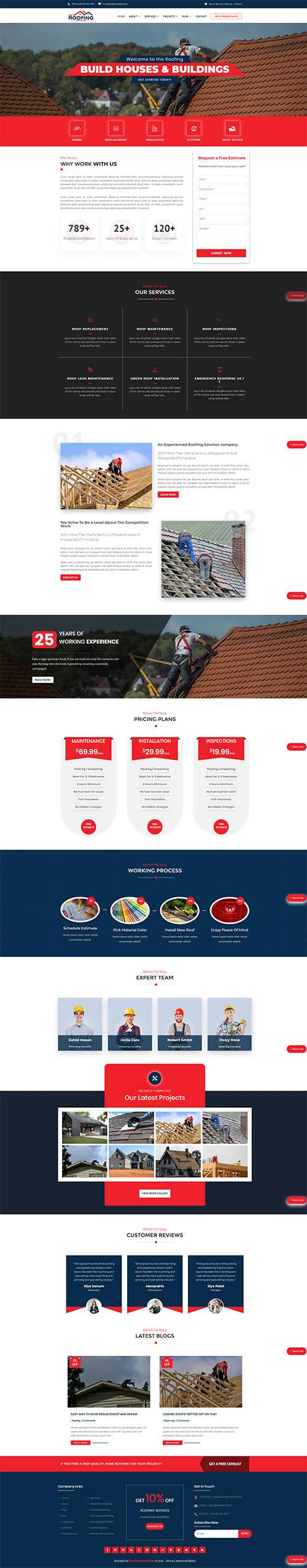 Divi Roofing Theme