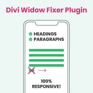 Divi Widow Fixer Plugin