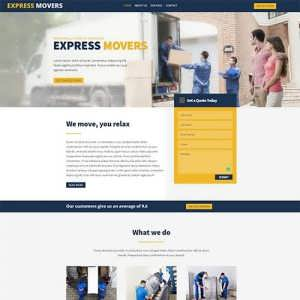 Express Movers a Free Divi Layout