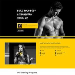 Fitness Gym Premium Layout