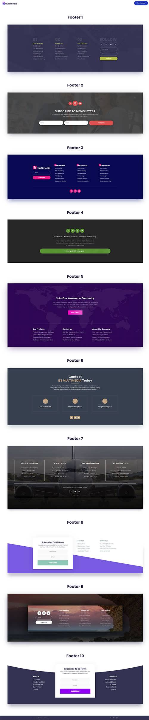 Footer Layout Pack