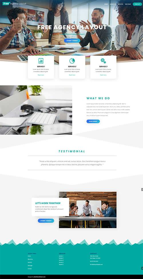 Free Divi Agency Layout