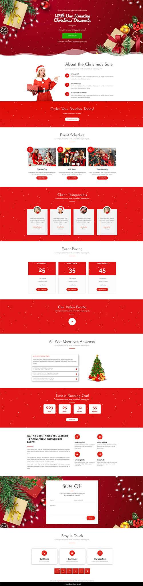 Free Divi Christmas Layout