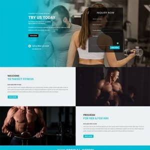 Free Divi Fitness Gym Layout