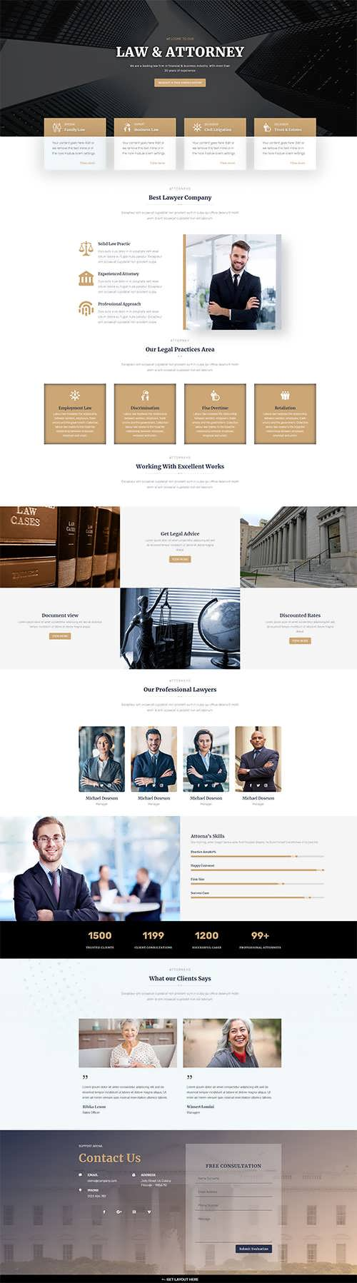 Free Divi Law Attorney Layout