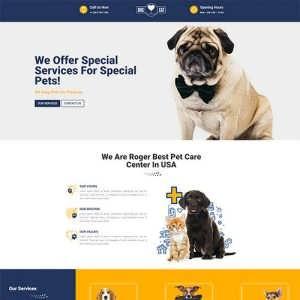 Free Divi Pets Layout