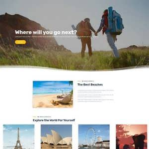 Free Divi Travel Tourism Layout