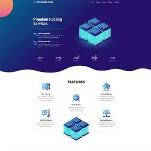 Free Hosting Layout DiviGear