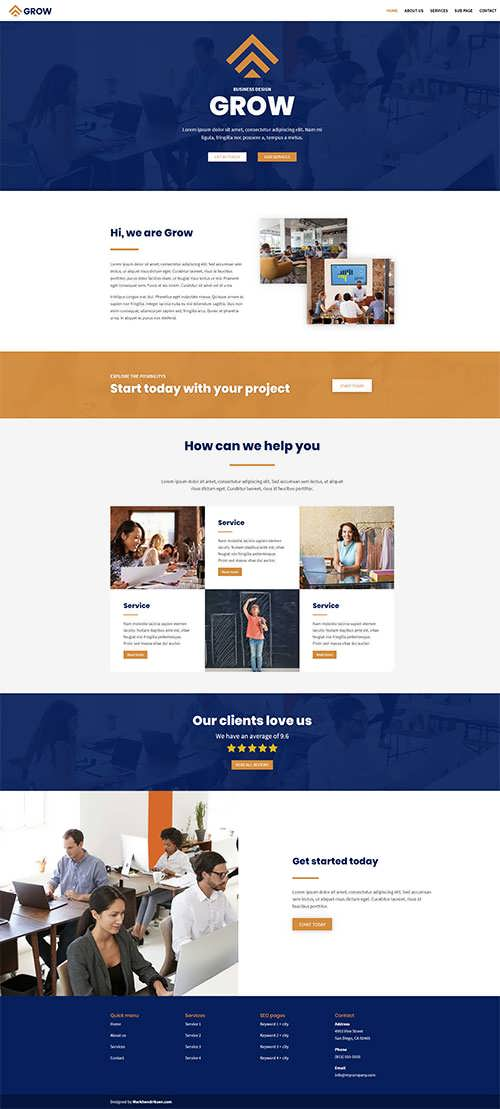 Grow Divi Free Layout
