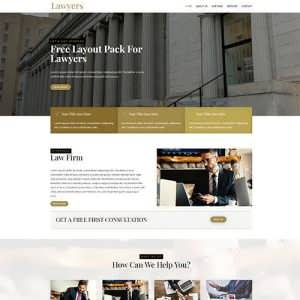 Lawyer Free Divi Layout