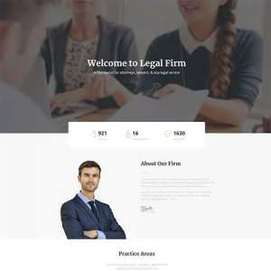 Legal Landing Page Layout