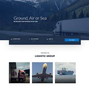Logistic A Free Divi Layout