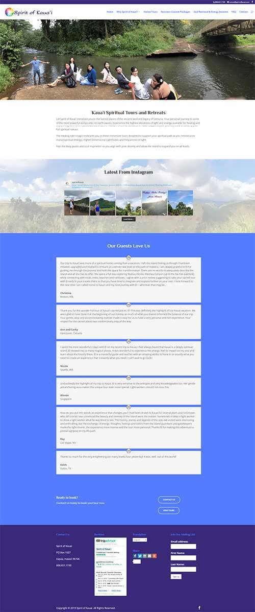 Travel Tourism Divi Example