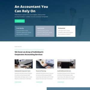 accountant landing page