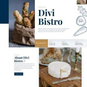 bistro landing page
