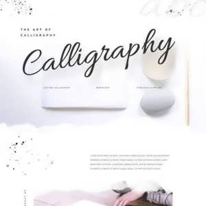 calligrapher landing page