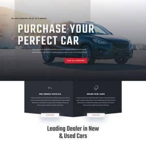car dealer landing page