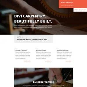 carpenter landinge page