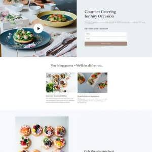 catering landing page