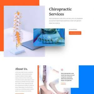 chiropractor landing page