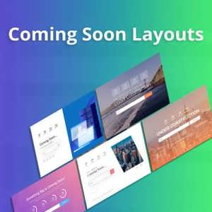 coming soon premium layouts
