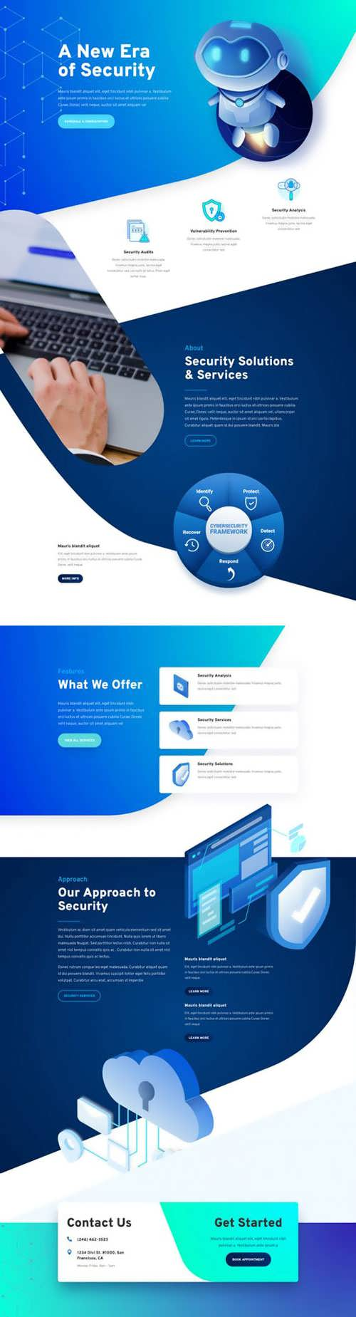 cyber security landing page