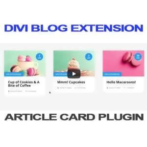 divi article card