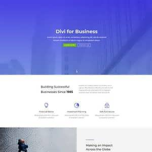 divi business layout free