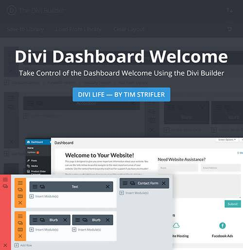 divi dashboard welcome featured image