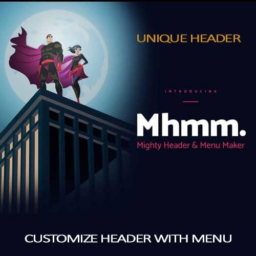 divi header with menu