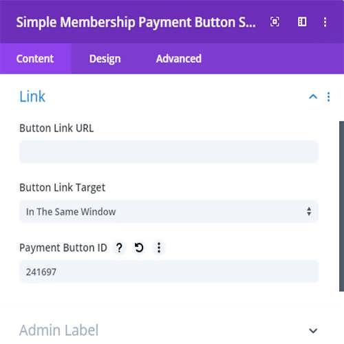 divi membership payment button