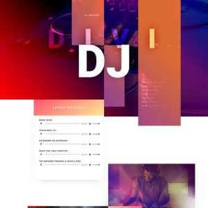 dj landing page