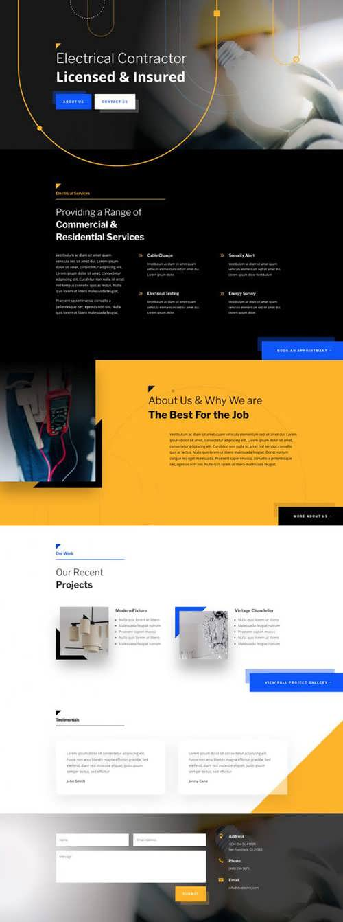electrician landing page