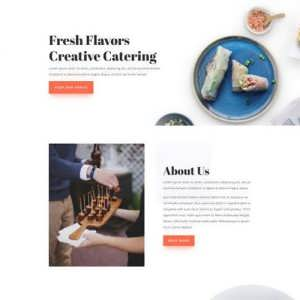 food catering landing page