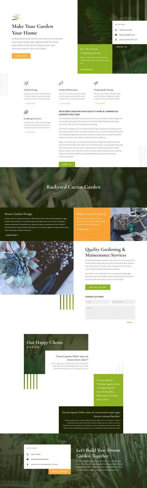 gardener landing page