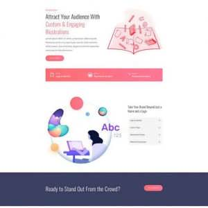 graphic illustrator landing page