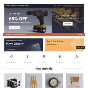 hardware store landing page