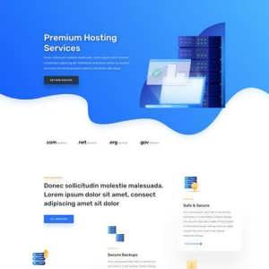 hosting company landing page scaled